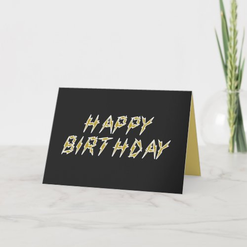 Electric Romantic and Funny Happy Birthday card