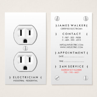 Electrician Business Cards Amp Templates Zazzle