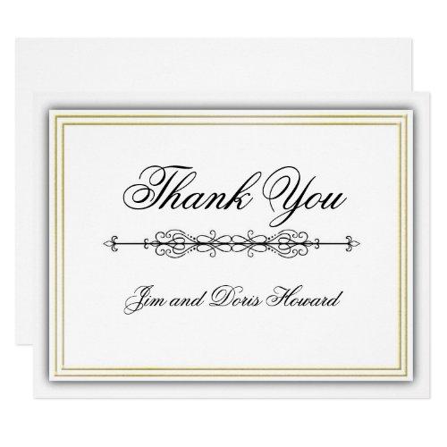Elegant 3D Thank You Card