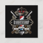 Elegant Barbershop Square Personalize Square Business Card