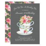 Elegant Birthday Tea Invitation