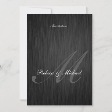 Elegant Black Wedding Invitation