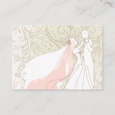 Elegant Bride and Groom Wedding RSVP Cards