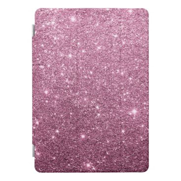 Elegant burgundy pink abstract girly glitter iPad pro cover