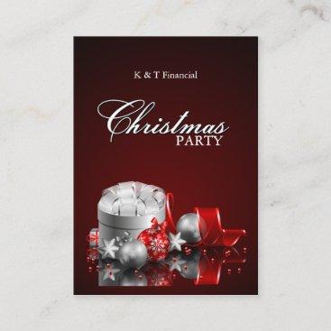 Elegant Christmas Dinner Party Invitations