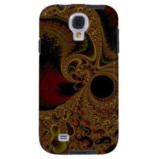 Elegant Creamy Fractal Galaxy S4 Vibe Case