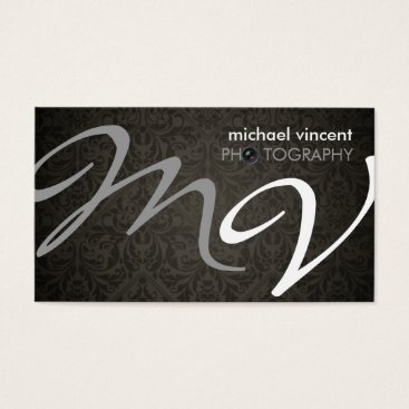 Elegant Damask Photography Business Card