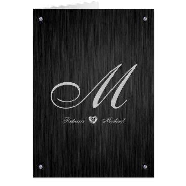 Elegant Diamond Themed Wedding Thank You Cards
