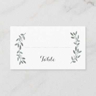 Elegant Eucalyptus Wedding Flat Seating Place Card