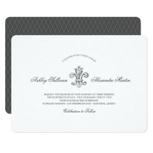 Elegant Fleur de Lis Wedding Combo 2 Invitation