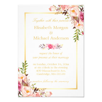 Lace Elegant Wedding Invitation