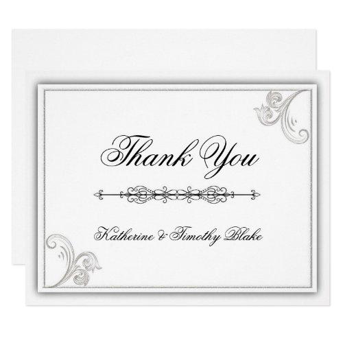 Elegant Flourish Thank You Card