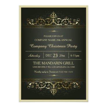 Elegant Formal Company Christmas Party Card