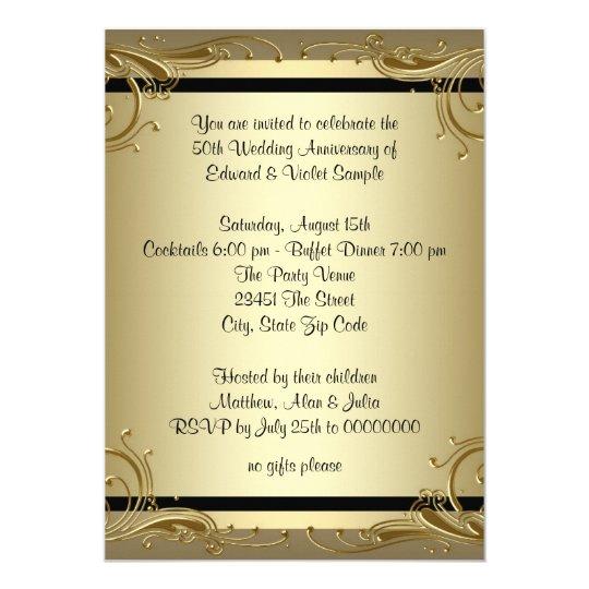 50th Wedding Invitations
