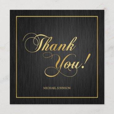 "Elegant ""Gold"" Class of 2018 Graduation Thank You"