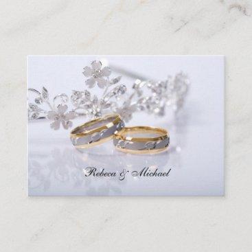 Elegant Gold / Platinum Wedding Band RSVP Card