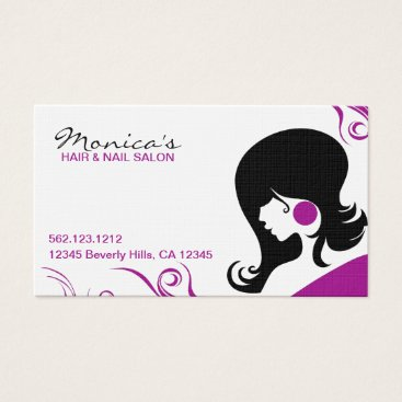 Elegant Hair Salon w/ Appointment Date Business Card