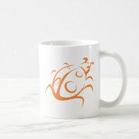 Elegant Ladybug Tattoo Style Coffee Mug