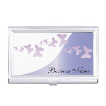 Elegant Lavender with Butterflies | Personalize Case For Business Cards