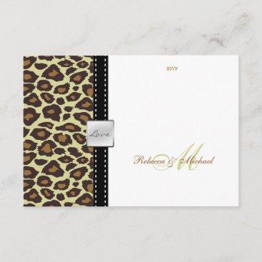Elegant Leopard RSVP Card