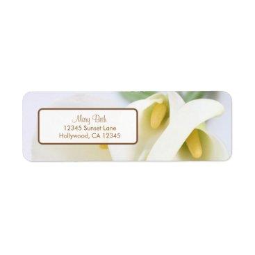 Elegant Lillies Return Address Labels