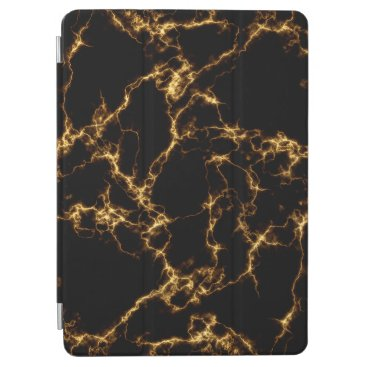 Elegant Marble style3 - Black Gold iPad Air Cover