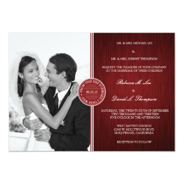 Elegant Maroon Red and White Signature Invitation