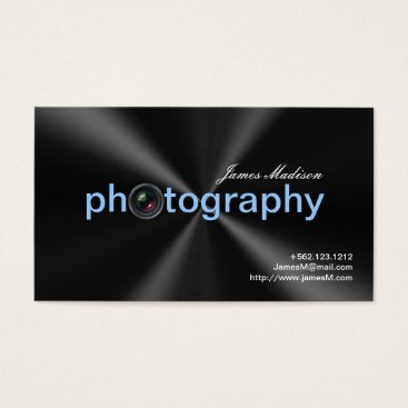 Elegant Metallic  Photogrpahy Business cards