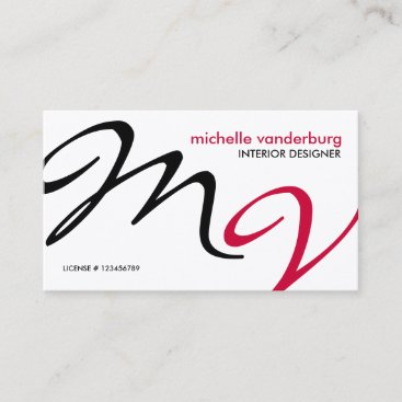 Elegant / Modern interior design Business Card