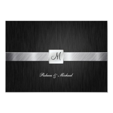 Elegant Monogram Wedding RSVP Card