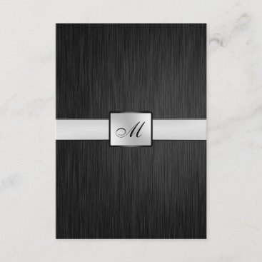 Elegant Monogram Wedding RSVP Card