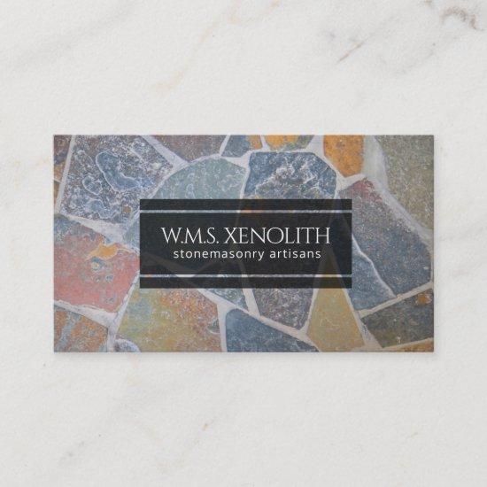Elegant Painted Cobblestones / Decorative Stones Business Card