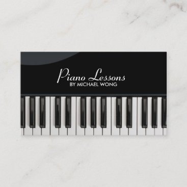Elegant Piano Lessons Business Card