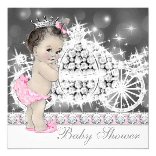 Personalized Carriage Baby Shower Invitations