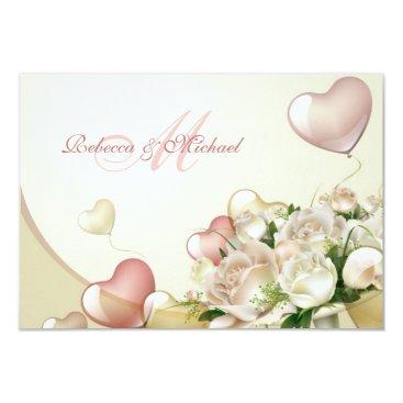 Elegant Pink and White Floral RSVP Cards