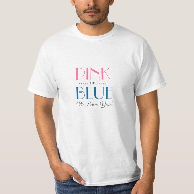 Elegant Pink Or Blue Gender Reveal Shirt