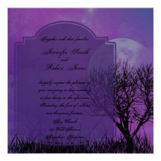 Wedding Invitations For Teal And Purple