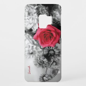 Elegant Red Rose with Black & White background Case-Mate Samsung Galaxy S9 Case