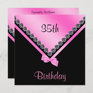 modern 35th birthday invitations zazzle