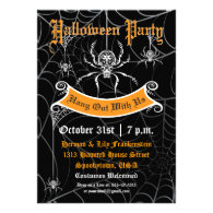 Elegant Spider Halloween Party Invitation