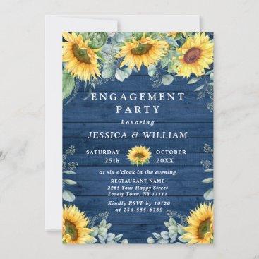 Elegant Sunflowers Eucalyptus ENGAGEMENT PARTY Invitation