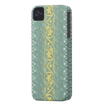 Elegant Teal Butter Damask Blackberry Bold iPhone 4 Cover