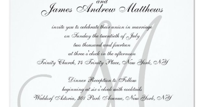 Elegant Wedding Invitations Monogram Initial Names Zazzle Com