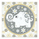 ❤️ Elephant Floral Sweet 16 Birthday Invitation
