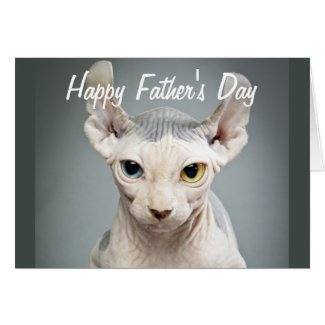Elf Sphinx Cat Photograph Happy Father's Day Greeting Card