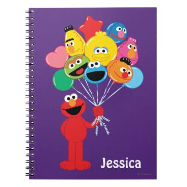 Elmo Balloons | Add Your Name Notebook