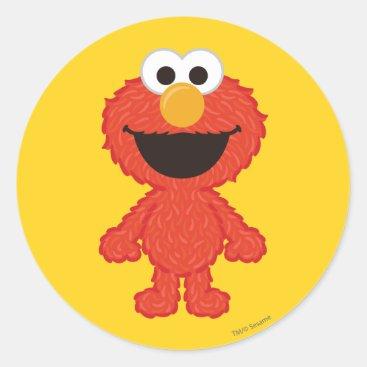 Elmo Wool Style Classic Round Sticker