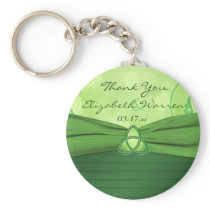 Emerald Green Celtic Love Knot Wedding Favor Key Chains