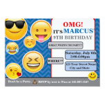 Emoji Birthday invitation card boy or girl