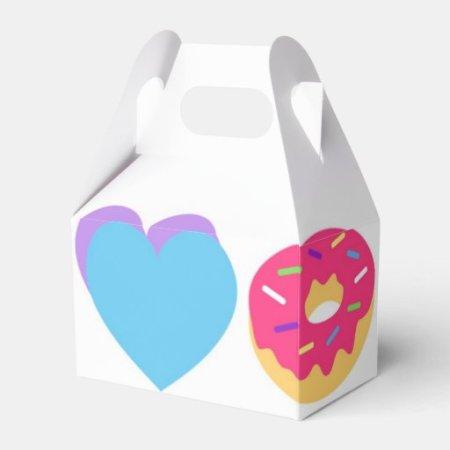 Emoji Party Favor Box- Peace, Love, Unicorn, Donut